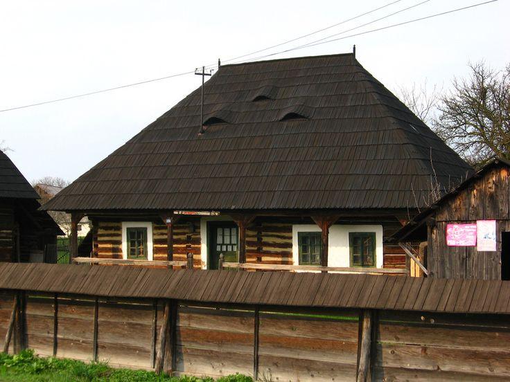 Wooden Peasant House Cacica Bucovina Romania