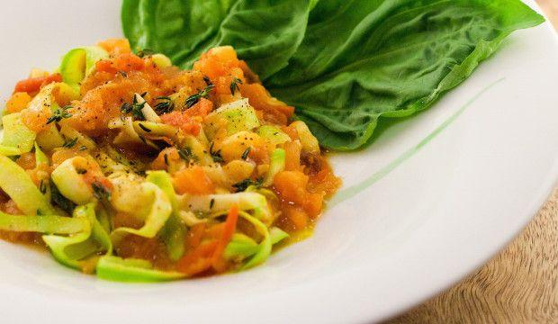 Zucchini Noodles With Marinara