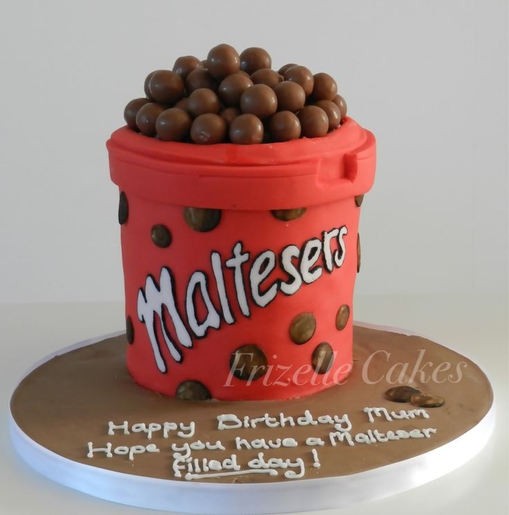 Malteasers birthday cake, Frizelle Cakes Chichester.oh decor one for my mum love it .