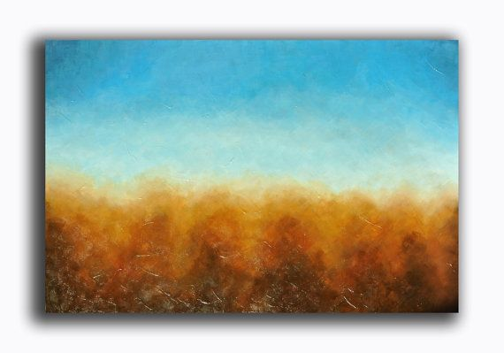Abstract Painting  Landscape Painting  Seascape by RomanArtStudio, $179.00