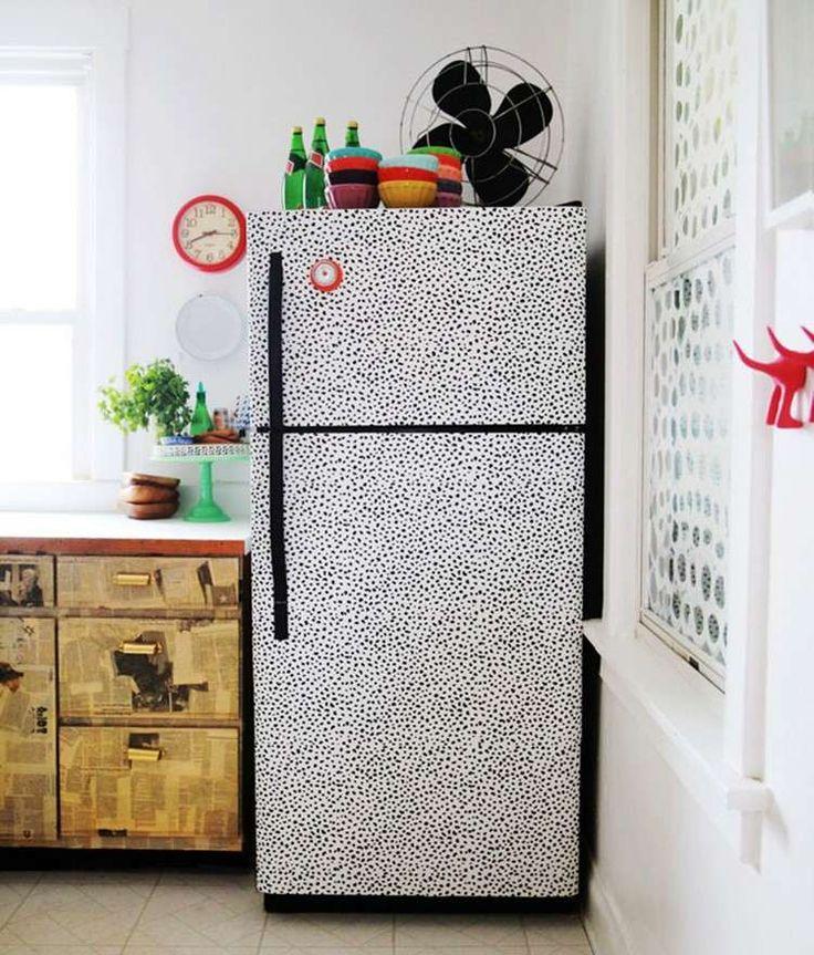 Den alten Kühlschrank neu gestalten
