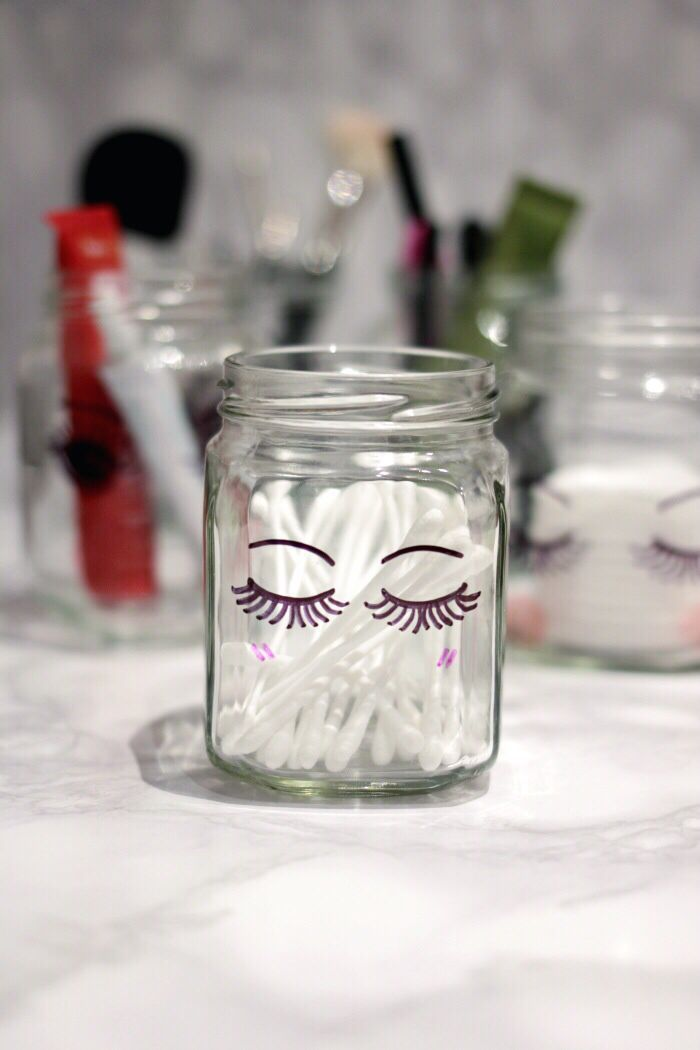 Hi! My name is Lil and I'm a Sharpie glass jar-aholic. I hope you liked last week's Sharpie typography glass jar DIY, because that would make me feel a bit better about my new addiction! I guess the photos are pretty self-explanatory (and I'm practically falling asleep) so I'm just