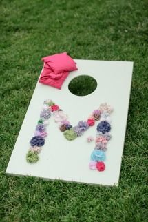 Wedding #LawnGames | DIY #Cornhole | SMP Weddings | Laura Murray Photography | See More: http://www.stylemepretty.com/colorado-weddings/denver/2013/12/05/colorado-wedding-from-laura-murray-photography-chairished-vintage-rentals/