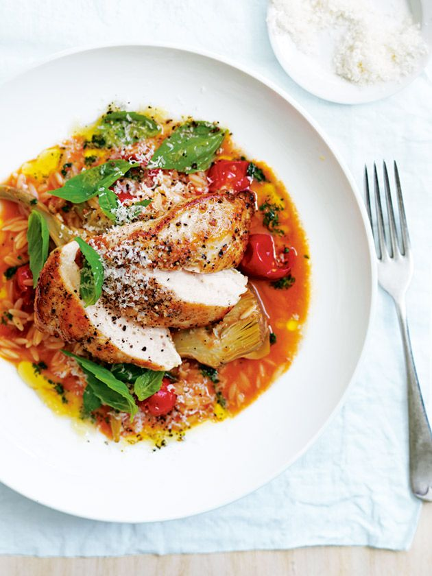 chicken and herb risoni from donna hay