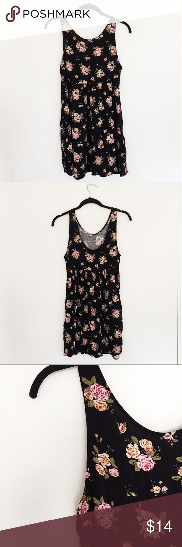 NWOT Floral Mini Dress - Black Black floral mini dress from Forever 21. Size small. Never been worn. Forever 21 Dresses Mini