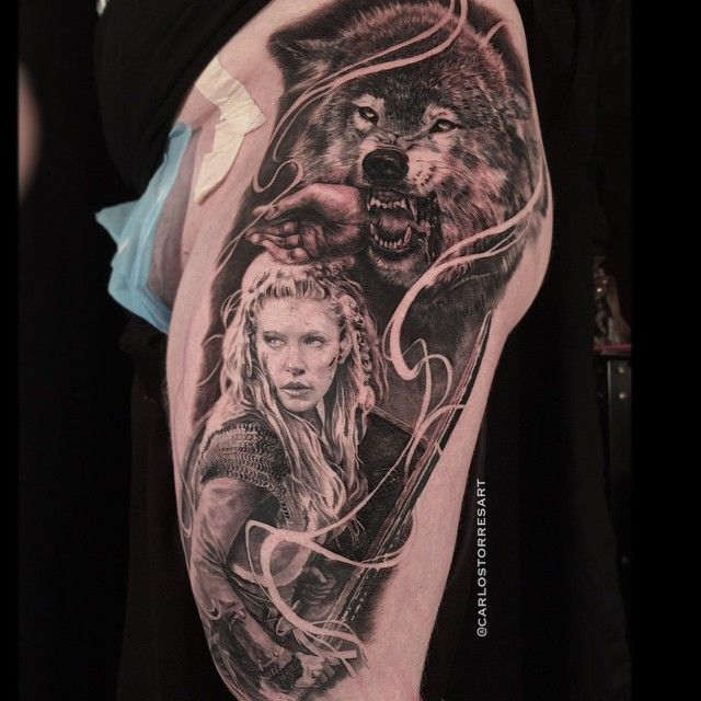 Carlos Torres' Fenris wolf and Vikings mythology piece ...