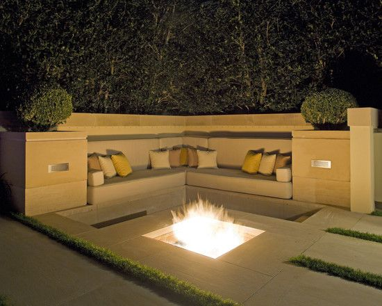 Recessed Fire Pit Exteriors Dreamhome Pinterest Gas