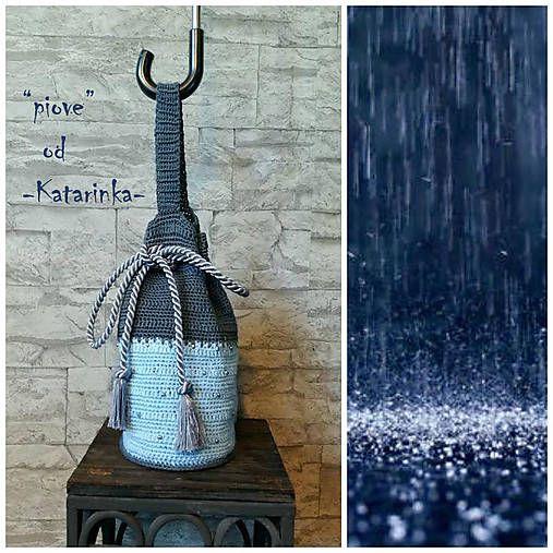 "handmade by -Katarinka- /  ""piove"" / háčkovaná kabelka - borsetta all´uncinetto - crocheted bag"