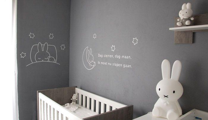Nijntje muurschildering, miffy