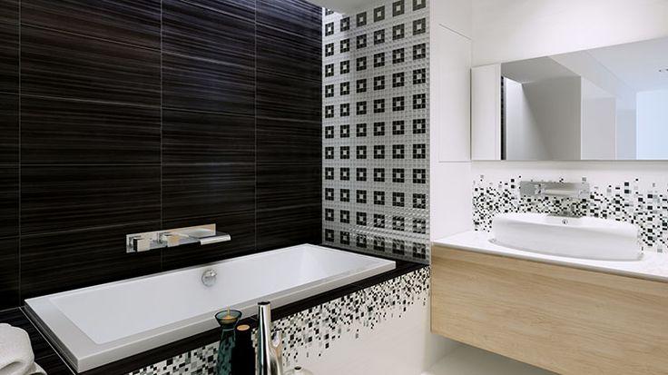 biało czarne łazienki - Szukaj w Google