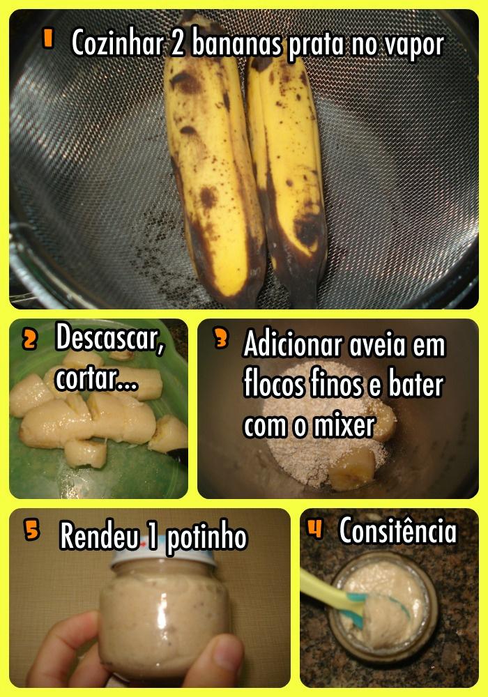 Papinha de banana com aveia