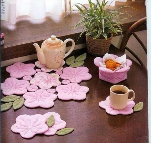 ♡  flower tea coasters