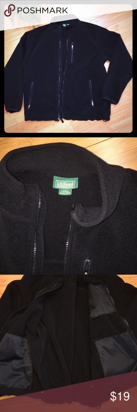 LL BEAN Men's Polartech Fleece Zip Up Jacket Very warm, barely used fleece jacket. Drawstrings at waist. L.L. Bean Jackets & Coats