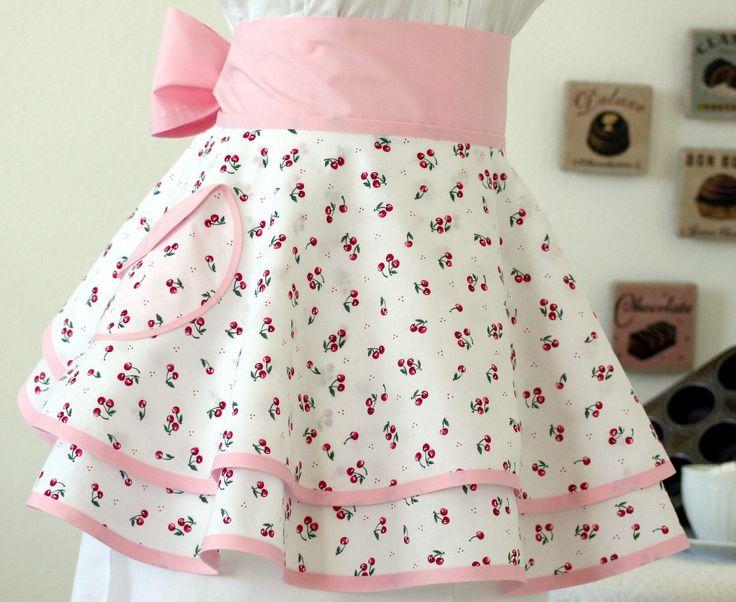 Vintage Apron Patterns Free | Cherries Jubilee » Cherry vintage apron style by Spicerak Designs