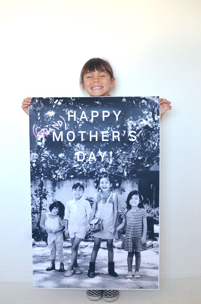 diy: giant mother's day poster