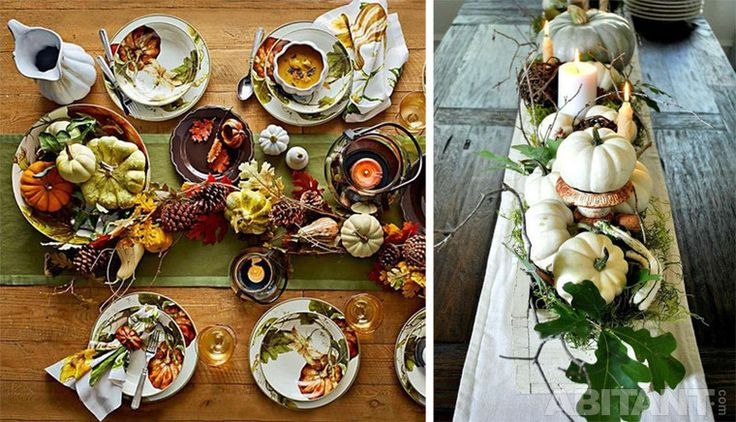 Картинки по запросу осенний декор стола