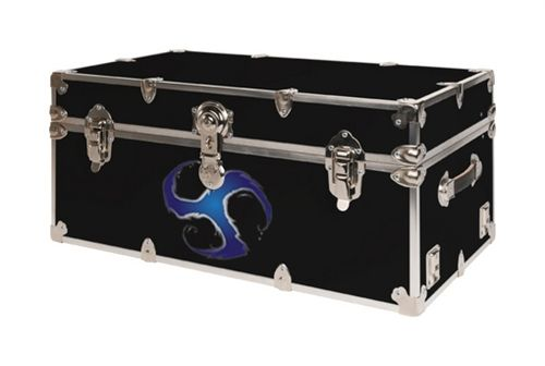 Blue Vortex Design College Dorm Trunk from SecureOnCampus.com - designed by college students, for college students!