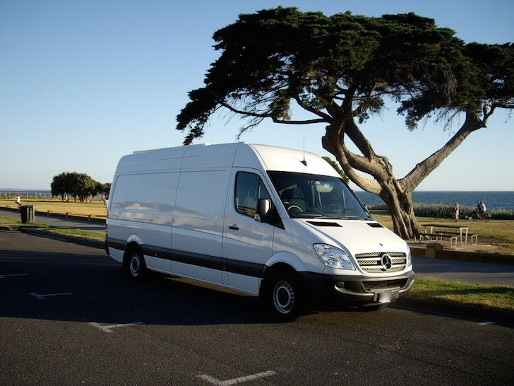 I'm in awe at this amazing Sprinter van conversion. Mark added a retractable bed, unique plumbing system, and a diesel cook top. Truly outstanding work.