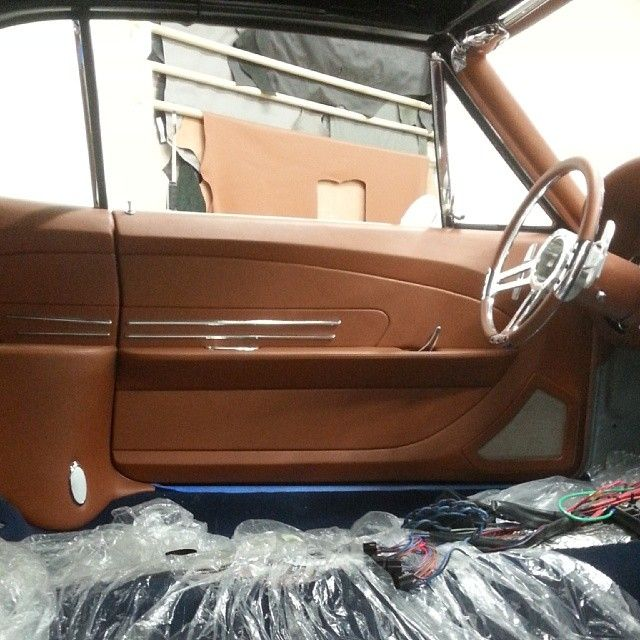 1967 chevelle custom interior in brown door panels - How to customize your car interior ...