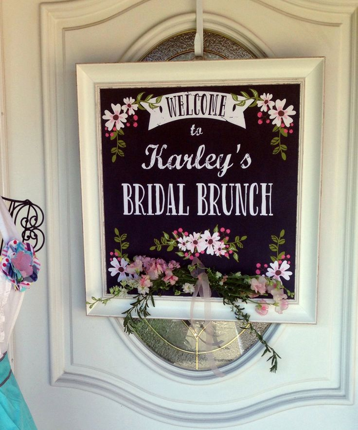 This Bridal Shower Welcome Sign is a lovely way to welcome your guests! Designed to look like a rustic chalkboard welcome sign, but with out the mess! Easily print and frame! Perfect for Bridal Tea Showers, a Bridal Brunch, a Couples Shower or just a lovely traditional Bridal Shower! Only available at: CreativeUnionDesign.Etsy.com