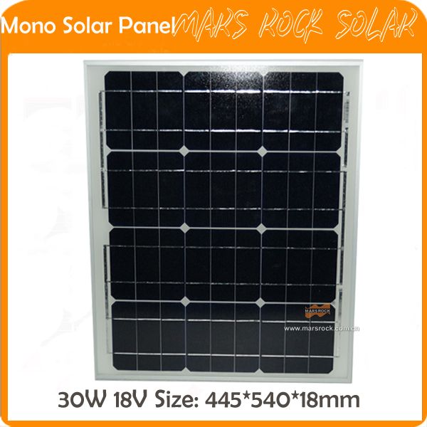 30W 18V PV Mono Small Solar Panel with Frame certificated by CE,TUV,RoHS,UL #Affiliate