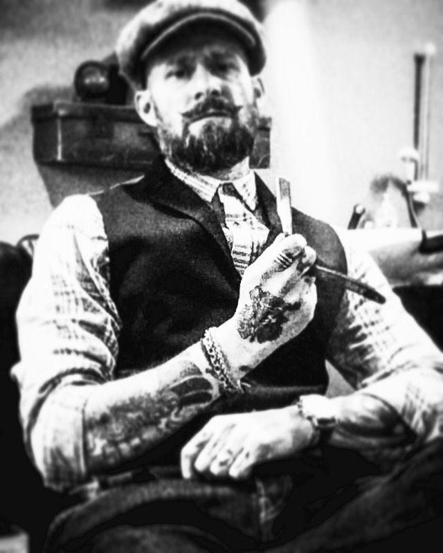 Doing what I do best #barber #denim #tweed beard #hats