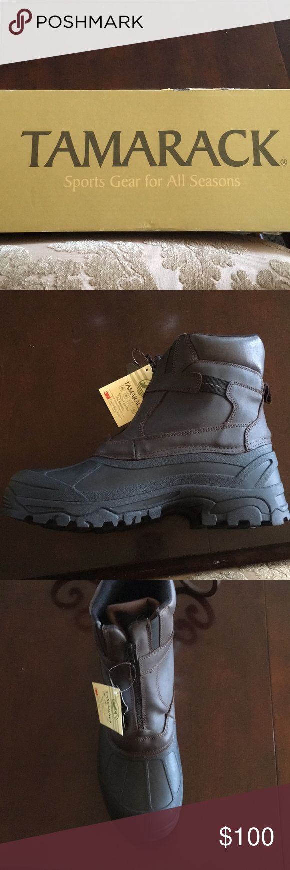 Tamarack Snow Boots Men's waterproof, insulated, leather snow boots Shoes Rain & Snow Boots