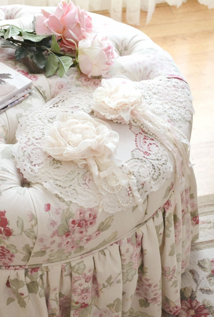 873 best shabby chic romantic style lace flowers home. Black Bedroom Furniture Sets. Home Design Ideas