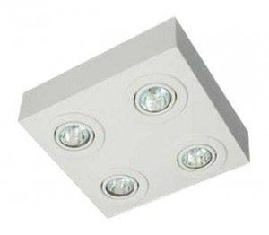 Plafon Sobrepor para 4 Lâmpadas Dicróicas - Luz Oculta Iluminação Elaborada