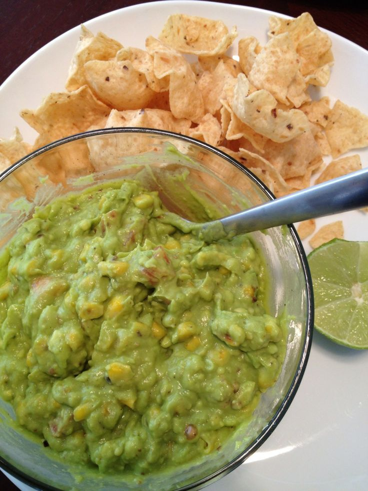 Roasted corn guacamole dip | Food | Pinterest
