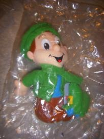 Lucky the Leprechaun $6.00    This is Lucky the Leprechaun    from the General Mills Breakfast Pals Collection    1998     Rare and in Mint Condition     Stored in baggies with the original bag on it    Non Smoking Home    Free Shipping in the USA only    You can see and order many more custom items at my website http://ltlbitscreations.com