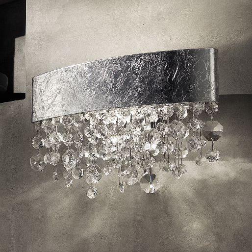 Настенный светильник Masiero Ola A1 OV 30 silver leaf