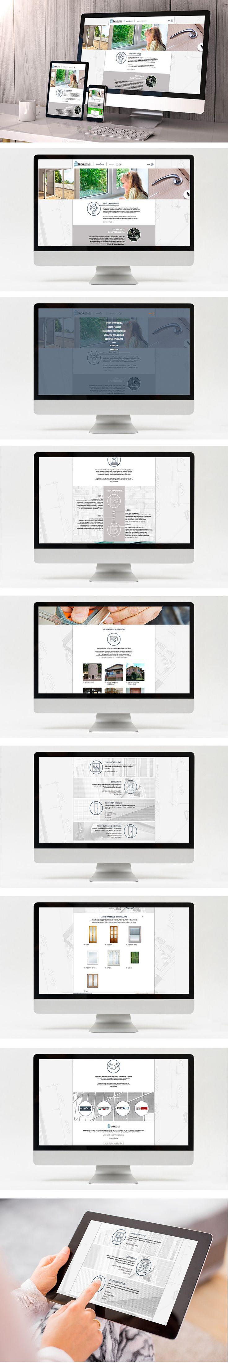 Nuovo portale aziendale per Lario Infissi, azienda specializzata nella produzione ed istallazione di serramenti e porte per abitazioni private, uffici e aziende.