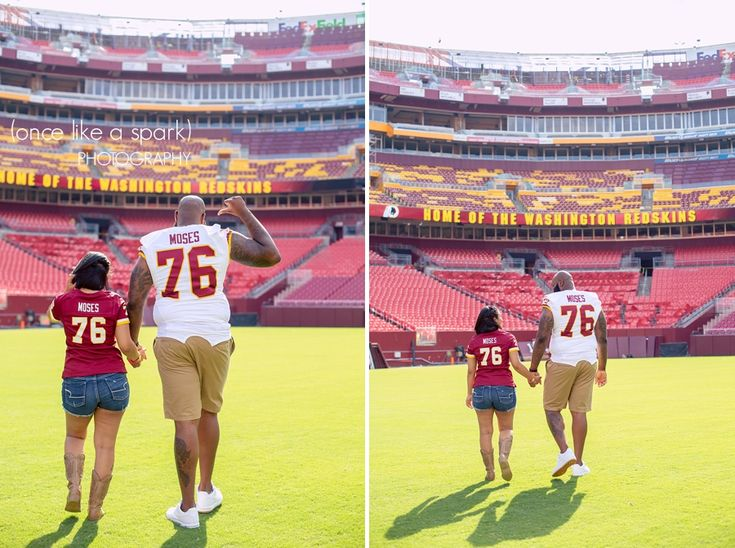 Jessica + Morgan. Engaged. Redskins Football. Engagement Photographer. FedEx Field. Maryland. #engagementphotographer