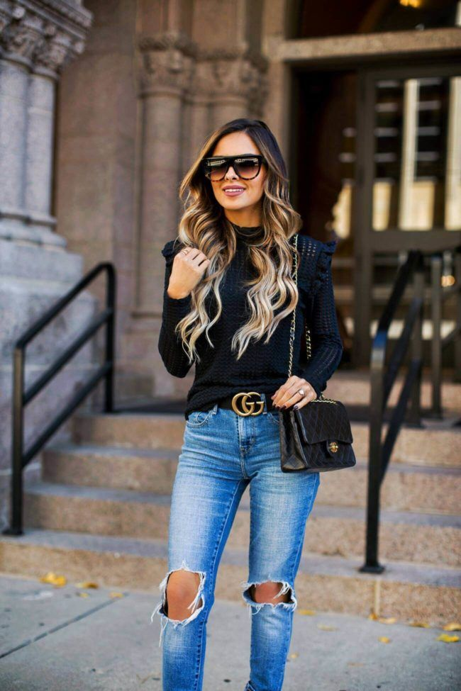 a47c16a938c0 fashion blogger mia mia mine wearing a black turtleneck sweater from  nordstrom and celine sunglasses