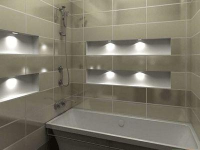 white color and light for breezy bathroom decor
