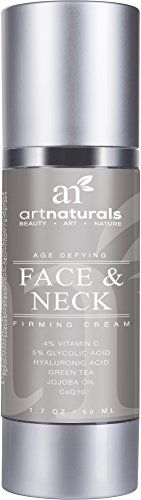 ArtNaturals Neck Firming Cream Active Ingredient Vitamin C Serum, Use as Daily Moisturizer on Your Face, Chest & Body, Best for Tightening Loose & Sagging Skin, Reduces Wrinkles & Fine Lines, 1.7 oz