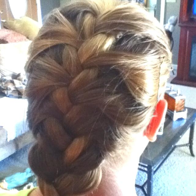 French braid for short hair did it my self: Short Hair, Haircuts Ideas, Shorts Hair, Fat Hair, Hair Style, Hair O' O', Jill Haircuts
