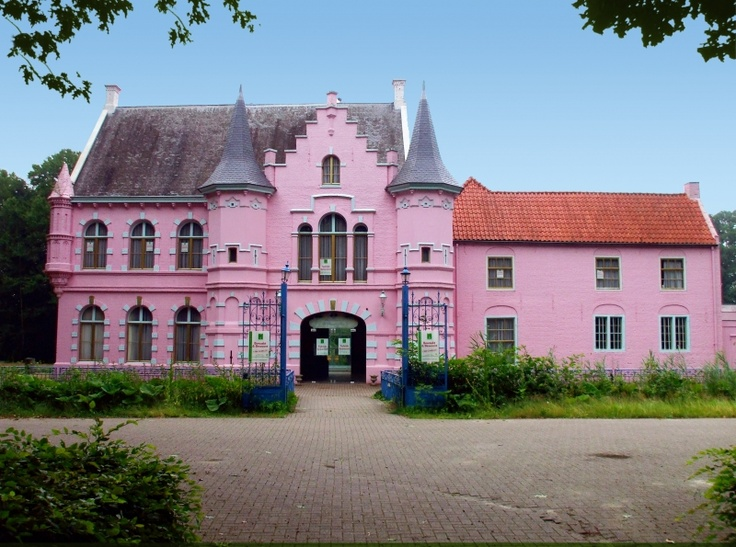 rent a room in this castle! Pink Castle in theme park in ...