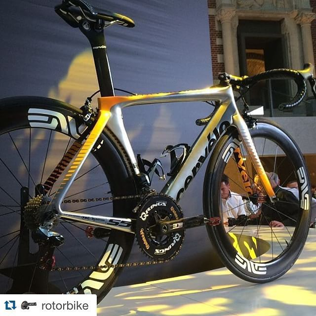 #Repost @rotorbike with @repostapp. ・・・ #TDF2015 Special Edition @cervelocycles S5 looks fast for @teammtnqhubeka! Custom Q-Rings for @qhubeka add a great touch #tdfutrecht #bling #ROTOR @rotorbike @rotorfrance @UKRotor