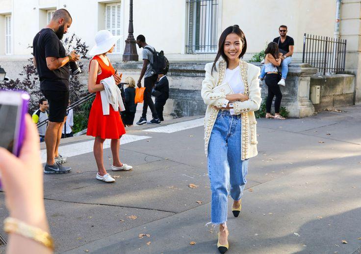 Yoyo Cao in a Chanel jacket
