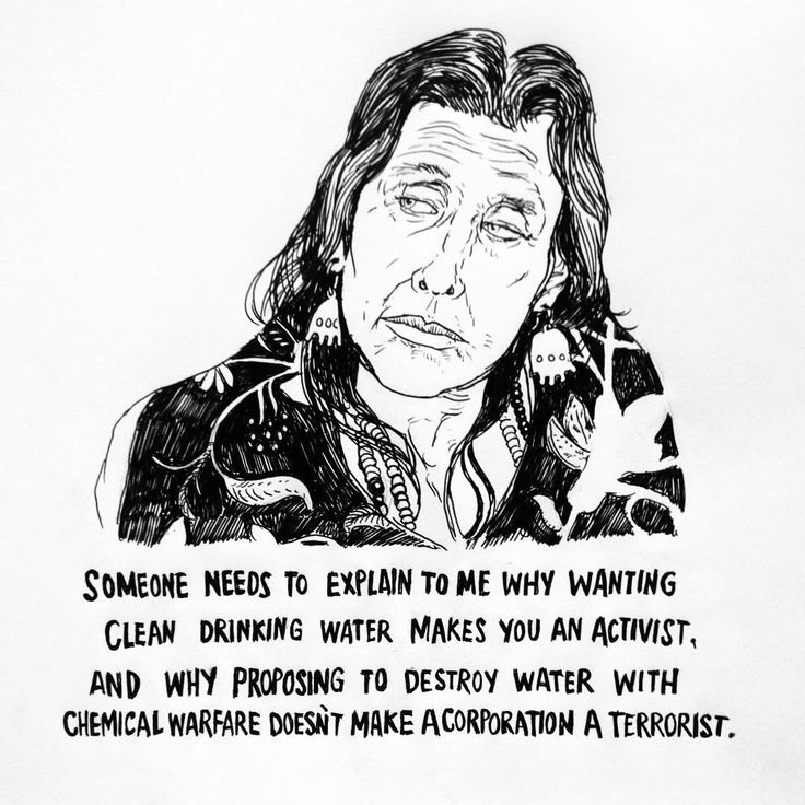 """Someone needs to explain to me why wanting clean drinking water makes you an activist. And why proposing to destroy water with chemical warfare doesn't make a corporation a terrorist."" - Winona LaDuke keeping it real and throwing shade at corporate terrorist. #nodapl #water #protectors"