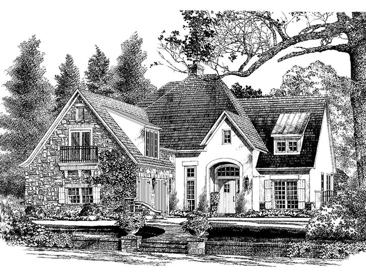 French country house plan with 2604 square feet and 3 for Southern french country house plans