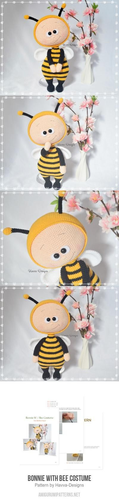 Bonnie With Bee Costume amigurumi pattern