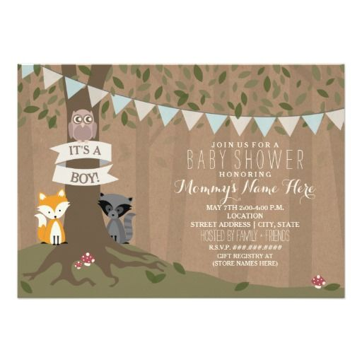17 best images about woodland baby shower on pinterest | woodland, Baby shower invitations