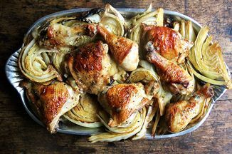 Sheet Pan Roast Chicken and Cabbage Recipe on Food52 recipe on Food52