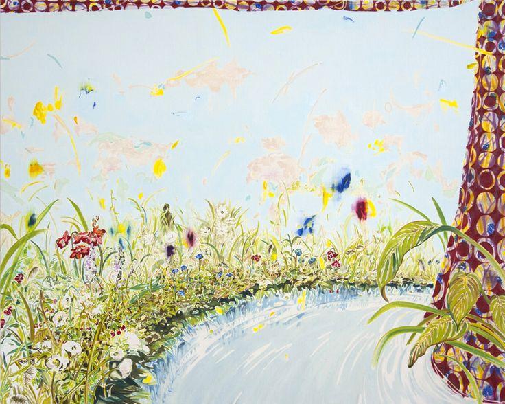 "Yuki Ota ""Piece of life"" 2014 oil on canvas 181.8×227.3cm #painting #art #contemporary"