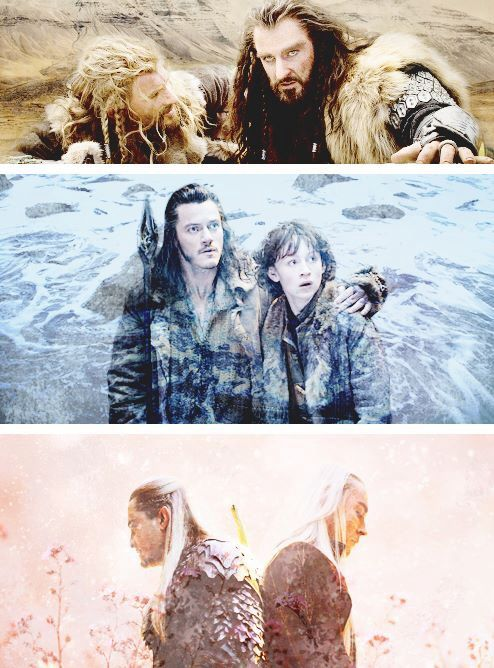 """Fathers and Sons ← Thorin is definitely a father figure, and so he was included here. <<Yes, he is. <3"