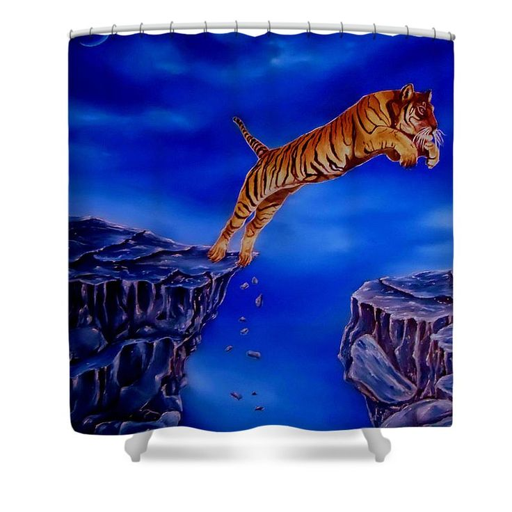 Shower Curtain,  bathroom,accessories,unique,fancy,cool,trendy,artistic,awesome,beautiful,modern,home,decor,design,for,sale,unusual,items,products,ideas,blue,tiger,wildlife,aminal