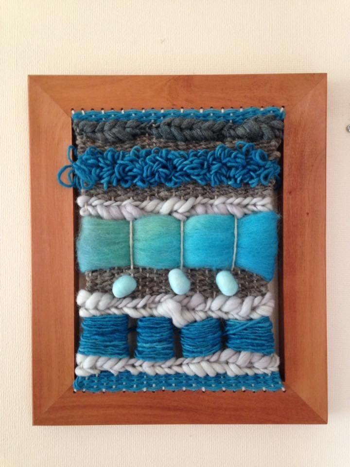 Telar decorativo lanas naturales